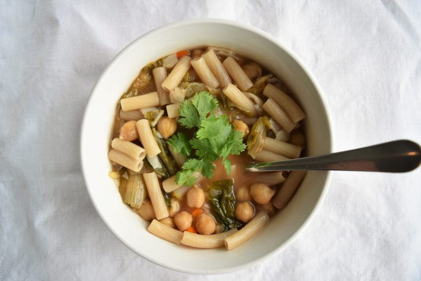 Vegan Pasta e Fagioli with Chickpeas