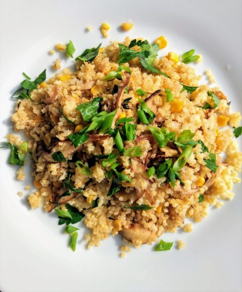 Vegan Mixed Grains with Shiitake Mushrooms