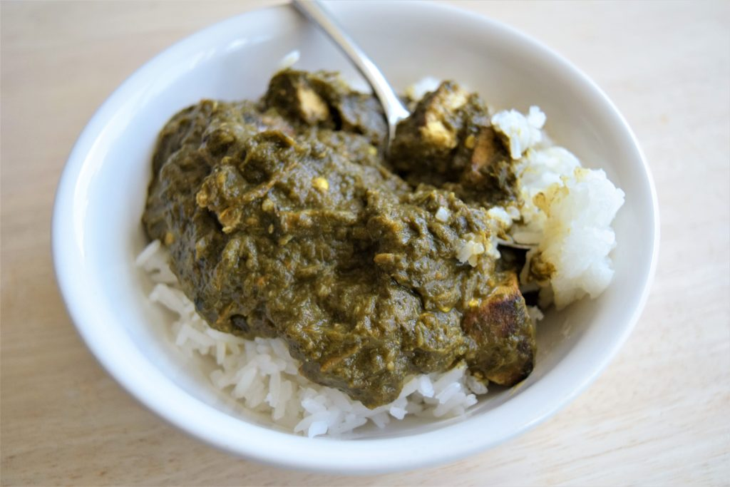 Vegan Tofu Palak