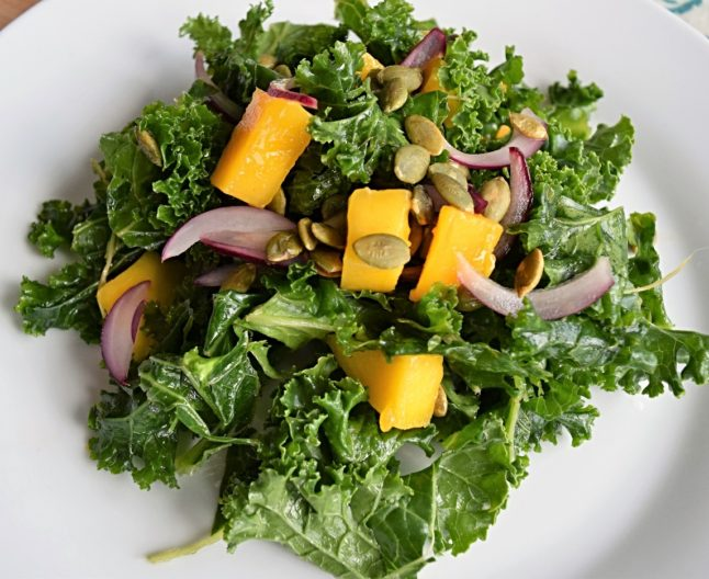 Vegan Massaged Kale and Mango Salad