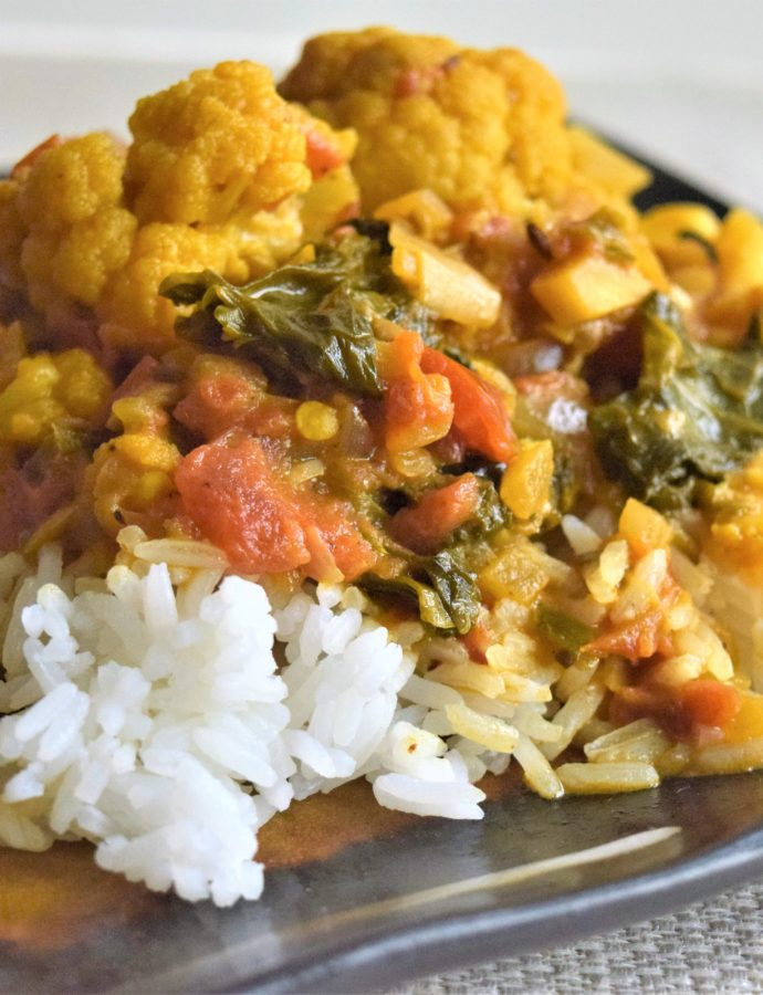 Cauliflower and Kale Stew
