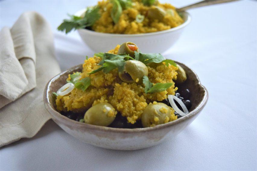 Easy Spanish Quinoa with Olives Recipe