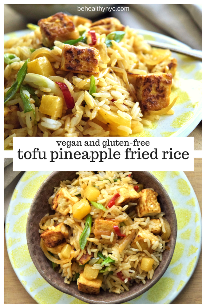 This side dish is a crowd-pleaser! It's delicious vegan pineapple fried rice with tofu, super easy to make, and requires very little time.