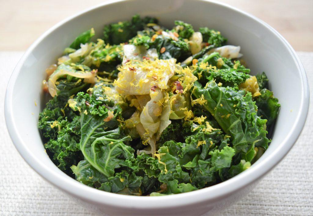 Vegan Sauteed Winter Greens
