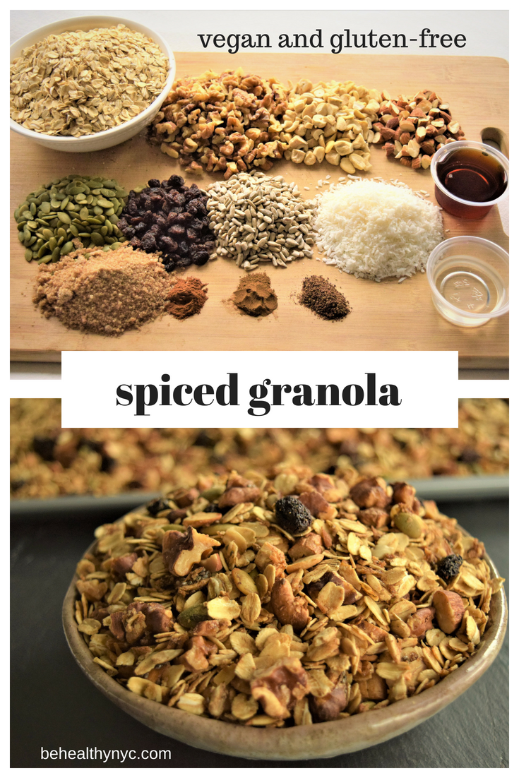 A versatile recipe that you will make all the time. This easy homemade vegan spiced granola is perfect not only for breakfast!
