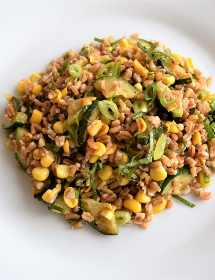 Barley Salad with Corn and Zucchini Recipe