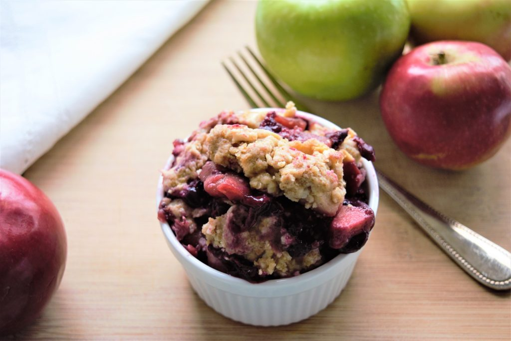 Vegan Blueberry, Apples, and Coconut Crumble