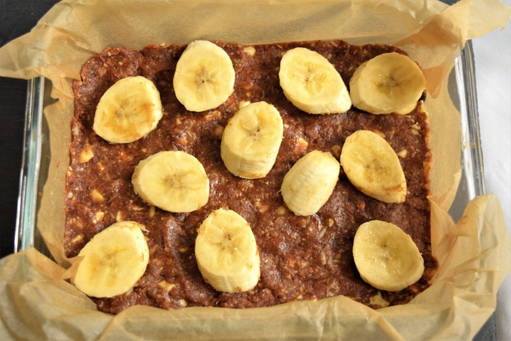 Vegan Chocolate-Banana Nut Bars
