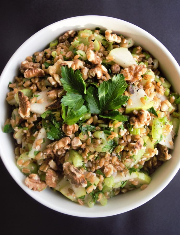 Vegan Farro and Pears Salad