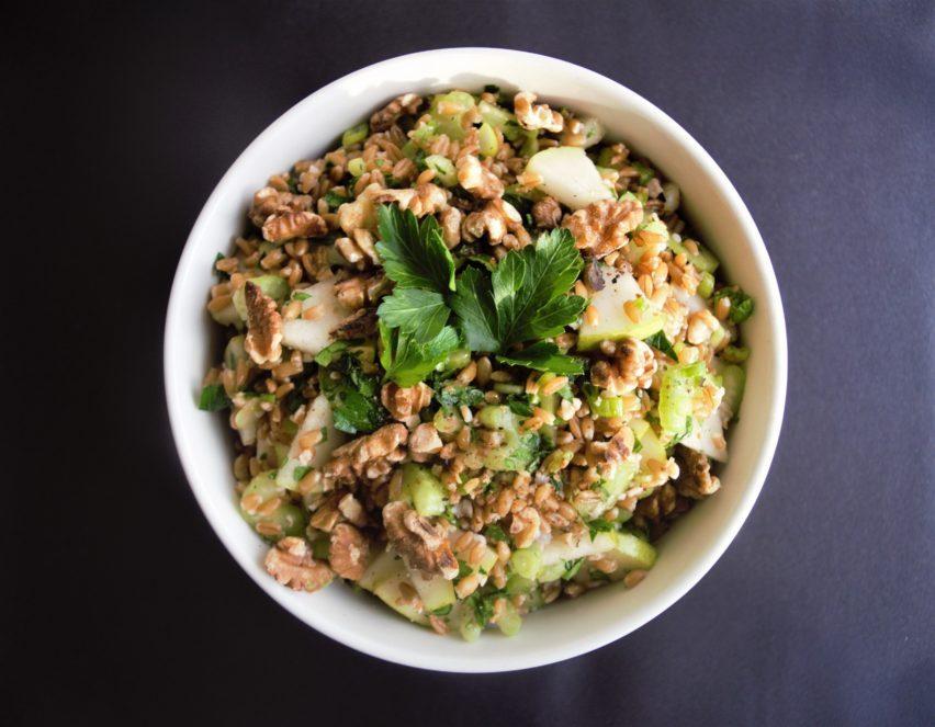 Vegan Farro and Pears Salad