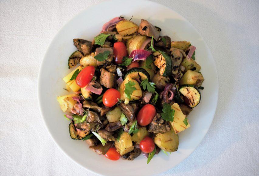 Summer Grilled Vegetables and Potato Salad