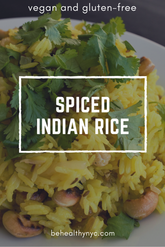 A delicious and fragrant vegan spiced Indian rice that you will want to have it everyday! Fast and easy to make, this rice is a crowd-pleaser.