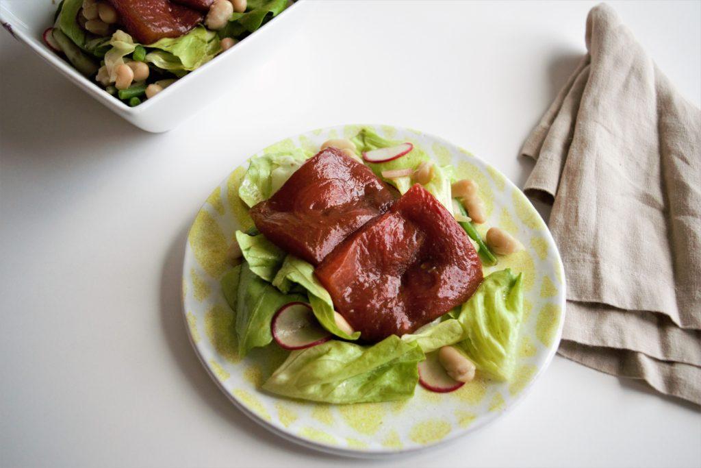 vegan watermelon nicoise salad