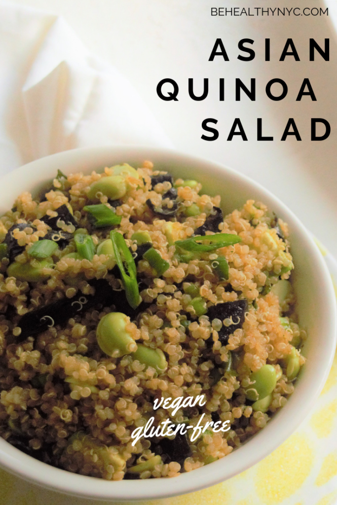 Easy, quick to make, packed with protein, healthy, and delicious. This recipe for Asian Quinoa Salad is a must-make and will please everyone!