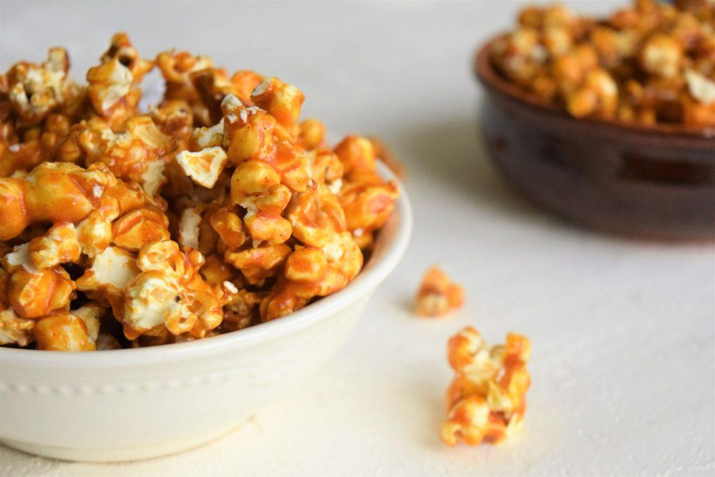 Vegan Spicy Caramel Popcorn
