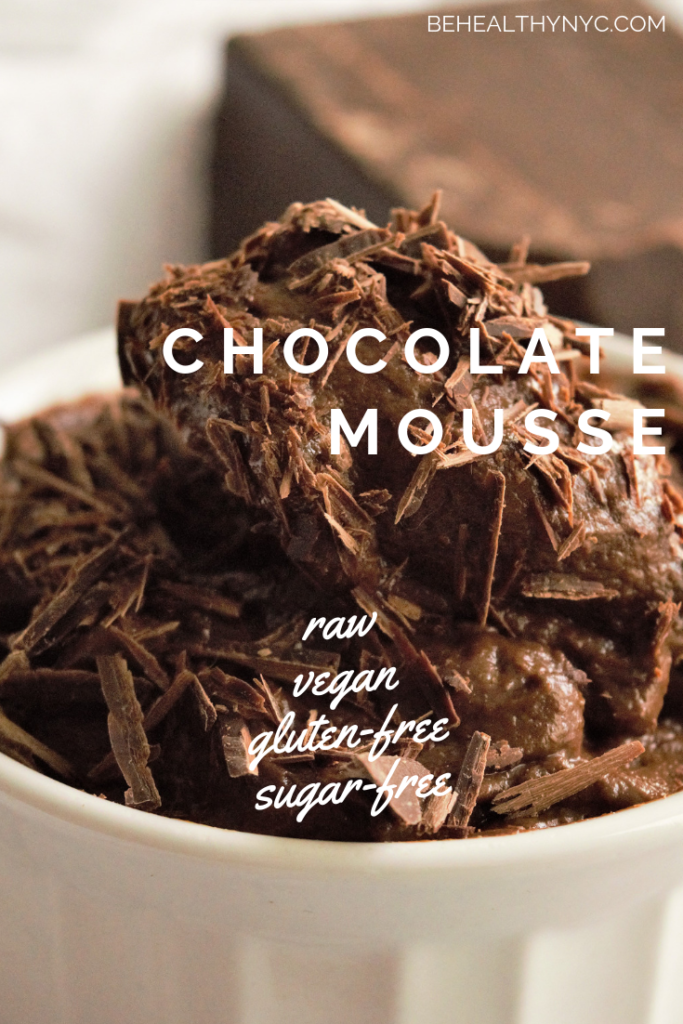 This raw vegan chocolate mousse is a dream! With one recipe you can make popsicles, a mousse, and chocolate sauce. Delicious, raw, vegan, and gluten-free!