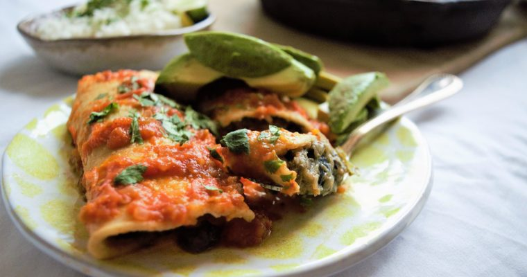 Easy Vegan Eggplant Enchiladas