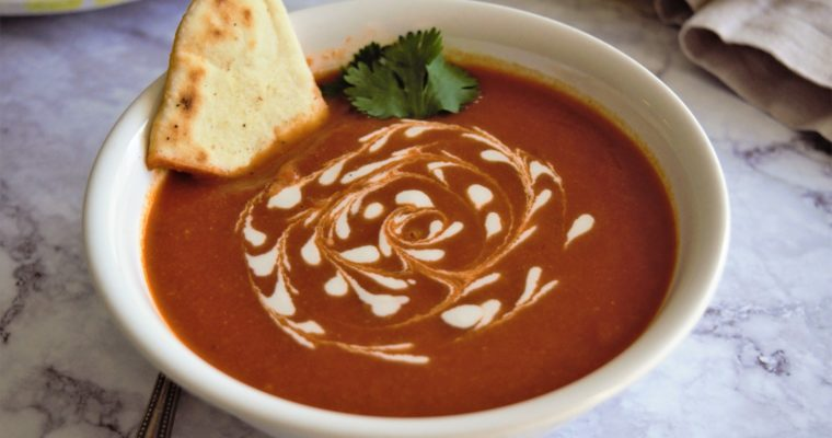 Easy Vegan Tomato and Cilantro Soup