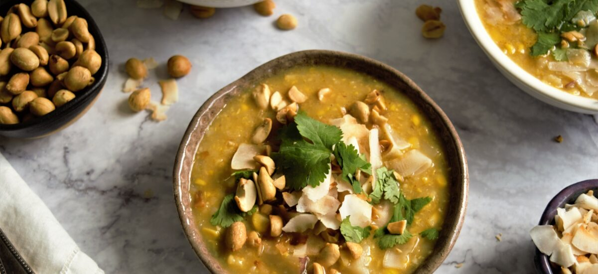 Vegan Corn and Coconut Soup