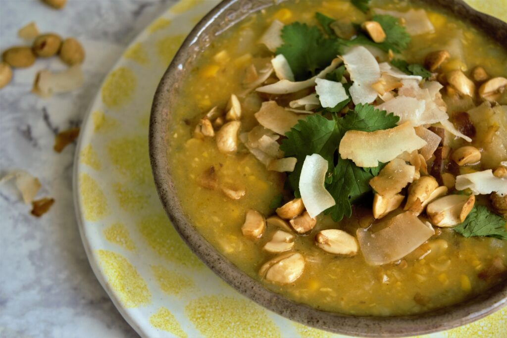Vegan Corn and Coconut Soup