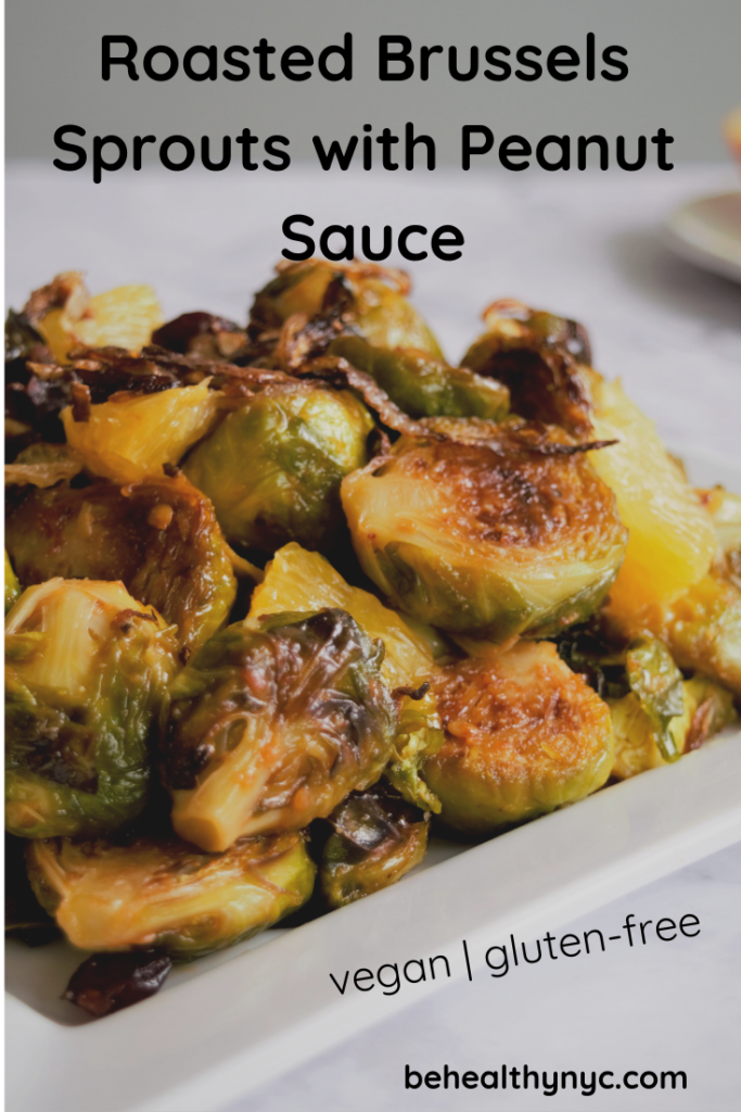 This brussels sprouts with peanut sauce is a delicious side dish to celebrate the Holidays. Easy to make and incredibly tasty.