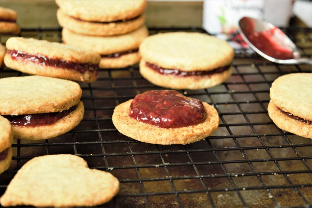 Vegan and Gluten-Free Almond-Raspberry Cookies