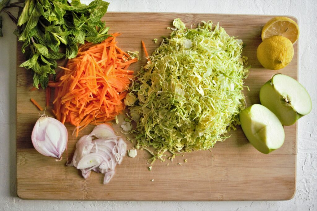 Vegan Lemony Brussels Sprout Slaw