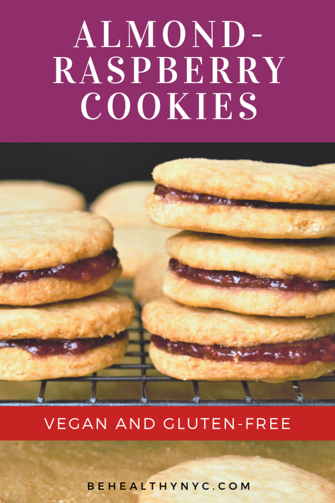 The most delicious cookies you'll find: vegan and gluten-Free almond-raspberry cookies And you'll love how easy this recipe is!