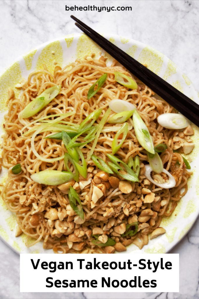 Classic Vegan Takeout-Style Sesame Noodles. So easy and delicious to make you won't ever order takeout noodles from a restaurant again!